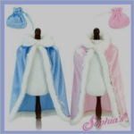 velour cape pink and blue